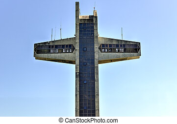 Watchman Cross in Ponce, Puerto Rico. It is a 100-foot-tall...