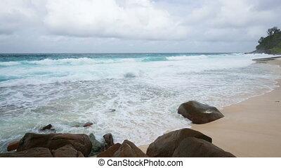 Stormy Anse Bazarca, Mahe, Seychell - Stormy day at the...