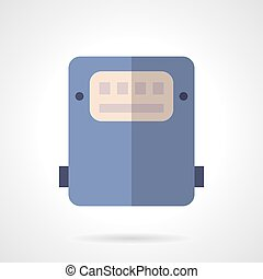 Saving energy device flat color vector icon - Purple...