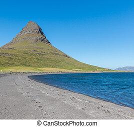 Kirkjufell Mountain - Famous Kirkjufell, a strangely shaped...