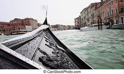 gondola floating on the canal in Venice