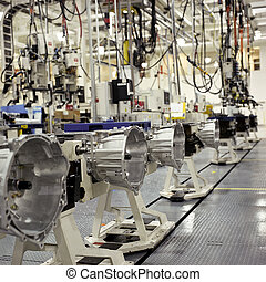 Transmissions factory - Interior of a transmissions factory.