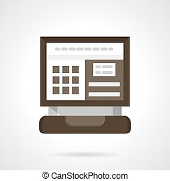 Car computer diagnostic flat color vector icon - Auto...