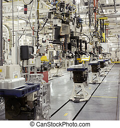 Transmissions factory - Interior of a transmissions factory