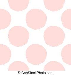 pink dots seamless pattern