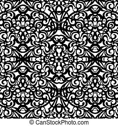 Baroque Style Vector Ornament - Floral abstract background,...