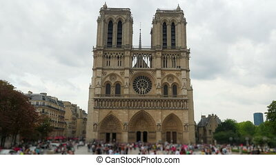 """notre dame de paris cathedral, france, timelapse, zoom in,..."
