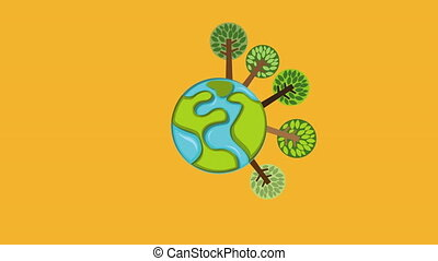 Forest icon design, Video Animation HD1080