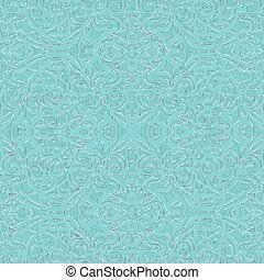 Baroque Style Light Blue and Silver