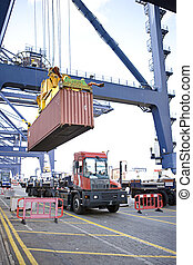 Container Handling Transport at the port