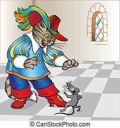 Fairy tale the Cat in boots - Illustration to Charles...