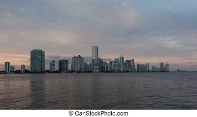 4K Time lapse Miami Skyline