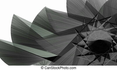 Abstract fractal shapes background - Abstract animated...