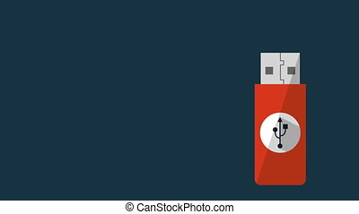 Usb icon design, Video Animation HD1080