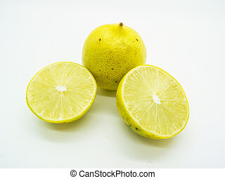 Thai limes or Thai lemons isolated - Thai limes (Manao) are...