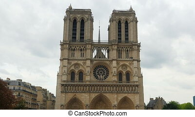 """notre dame de paris cathedral, france, timelapse, zoom out,..."