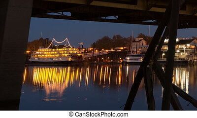 Tower Bridge Sacramento River Capital City California...