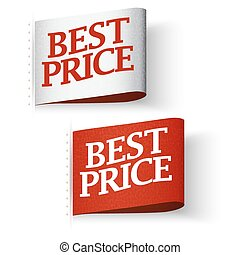 Price-tag Labels, Best Price Message Set - Price-tag Labels,...