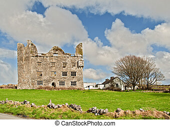 old irish castle on the west coast of ireland