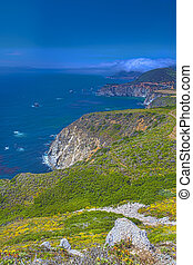 Adorable View of Coastline in Big Sur,California, United...