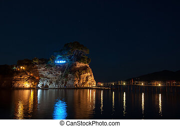Cameo Island at night, Zakynhtos, Greece - Cameo Island at...