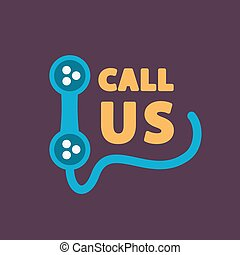 Call us icon - This is a vector illustration of Call us icon...