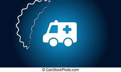 Ambulance icon design, Video Animation HD1080