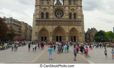 quot;notre dame de paris cathedral, france, timelapse,...