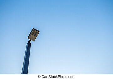 lamp post on blue sky