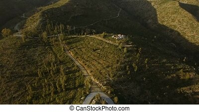 4K Aerial, Flight over farmlands, Andalusia, Spain - These...