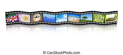 film strip - An illustration of a film strip with nice...