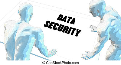 Data Security Discussion and Business Meeting Concept Art