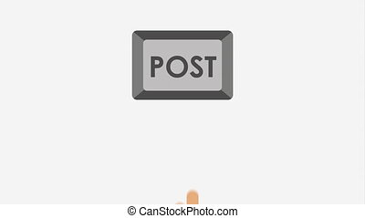 Post button design, Video  Animation HD1080