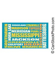 Mississippi state cities list - Image relative to USA...