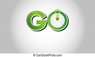 Go green design, Video Animation HD1080