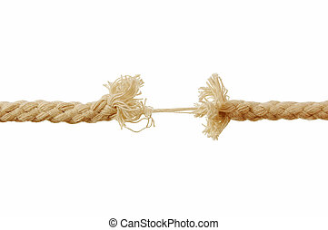 Breaking rope - Rope on the brink of breaking into two...