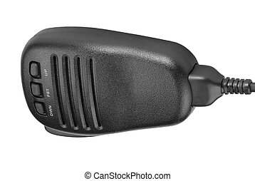 black handheld dynamic radio microphone - black handheld...
