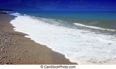 sea shore on the island of Sicily with the spectacular blue...