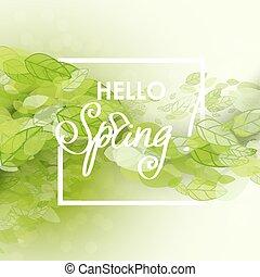 春, 抽象的, 背景
