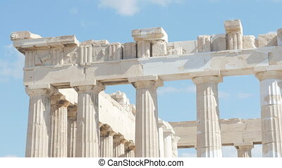 quot;Acropolis, Athens, Greece, Timelapse, zoom in, 4kquot;...