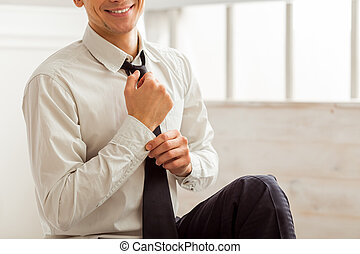 Young successful businessman - Portrait of attractive young...