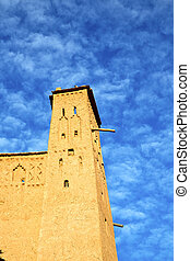 africa in histoycal maroc old construction and the blue...