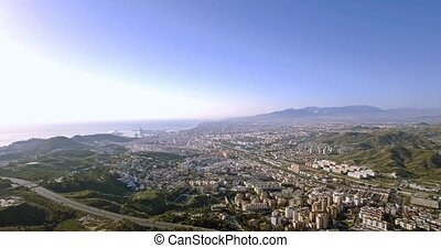 4K Aerial, Cityscape Malaga, Andalusia, Spain - These shots...