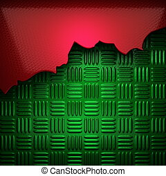 red and green metal background