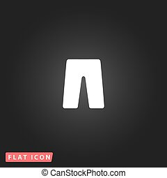 capri flat icon - Capri. White flat simple vector icon on...