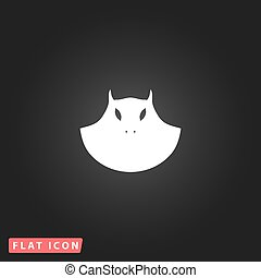 Executioner evil face mask icon - Executioner evil face...