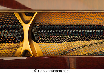 internal mechanism of the strings in grand piano - the...