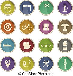 Bycicle simply icons - Label icons for web sites and user...