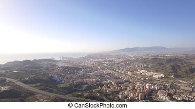 4K Aerial, Cityscape Malaga - These shots are straight out...