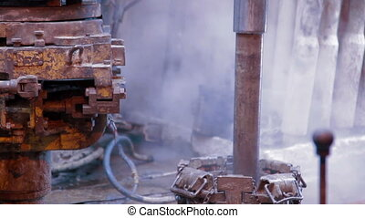 Drill pipe rotating in the rotary table drilling - Drill...